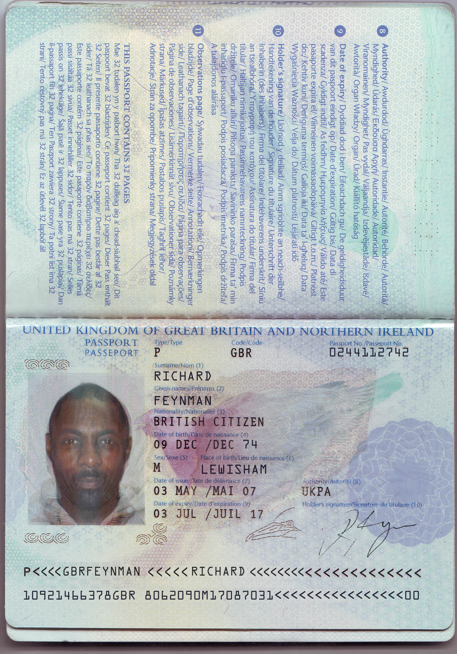 Luther - Passport Prop