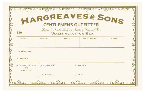 Hat Box Label