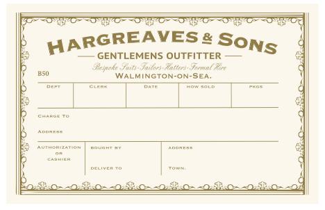 Hat Box Label