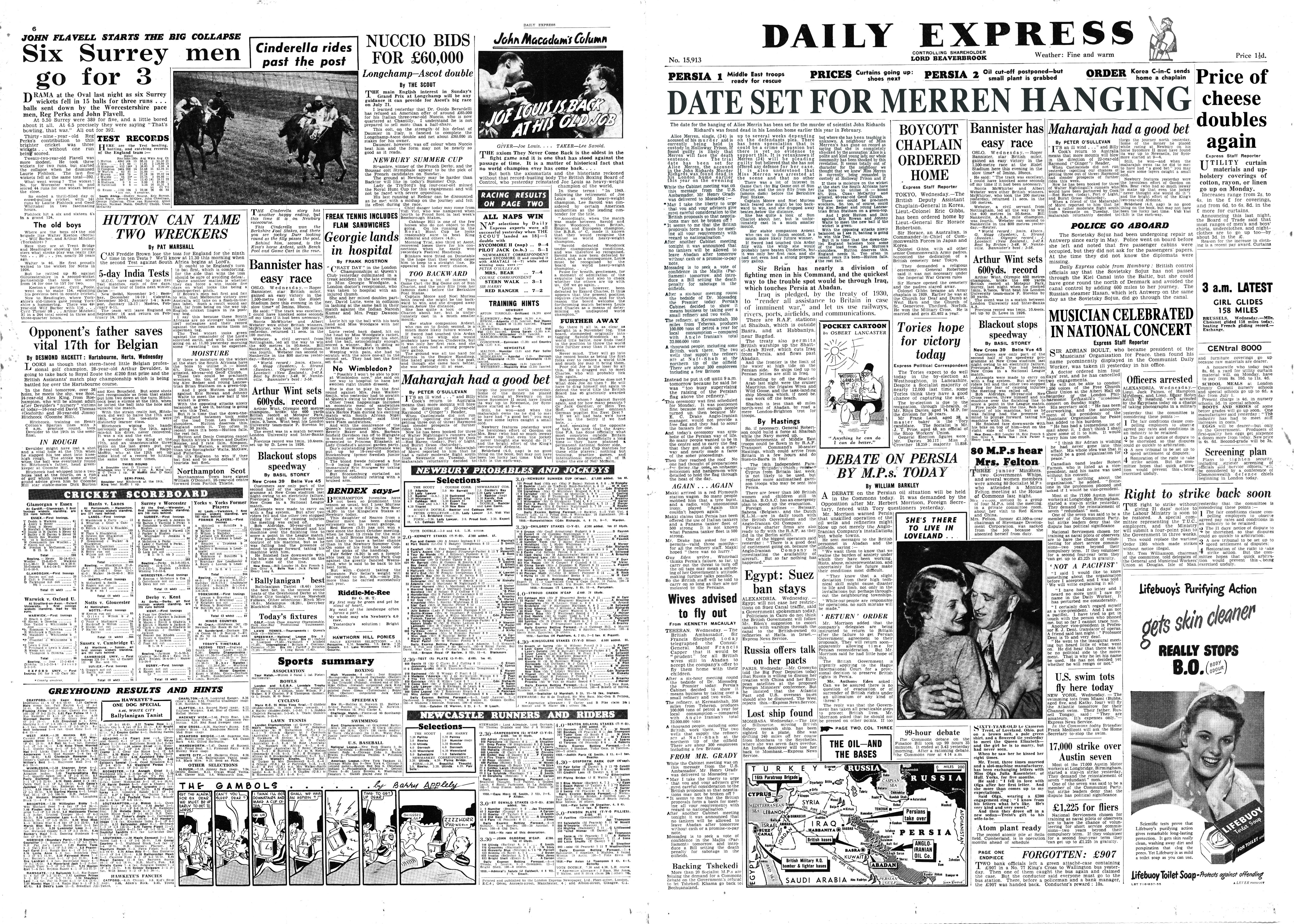 The Daily Express - Period Newspaper - 1953.jpg