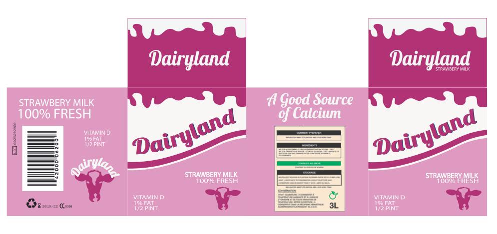 Strawberry Milk Carton wrap-around