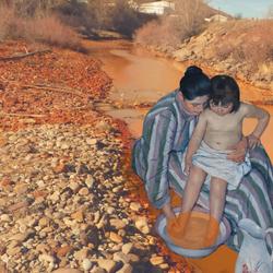 Child's Bath. By Erin Wilkerson