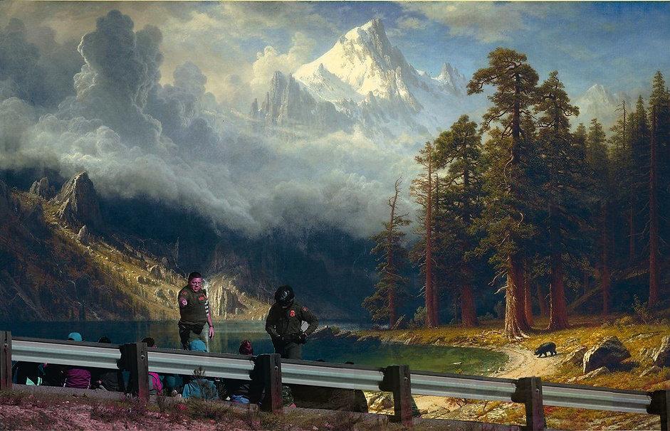 American Landscape, Erin Wilkerson, collage