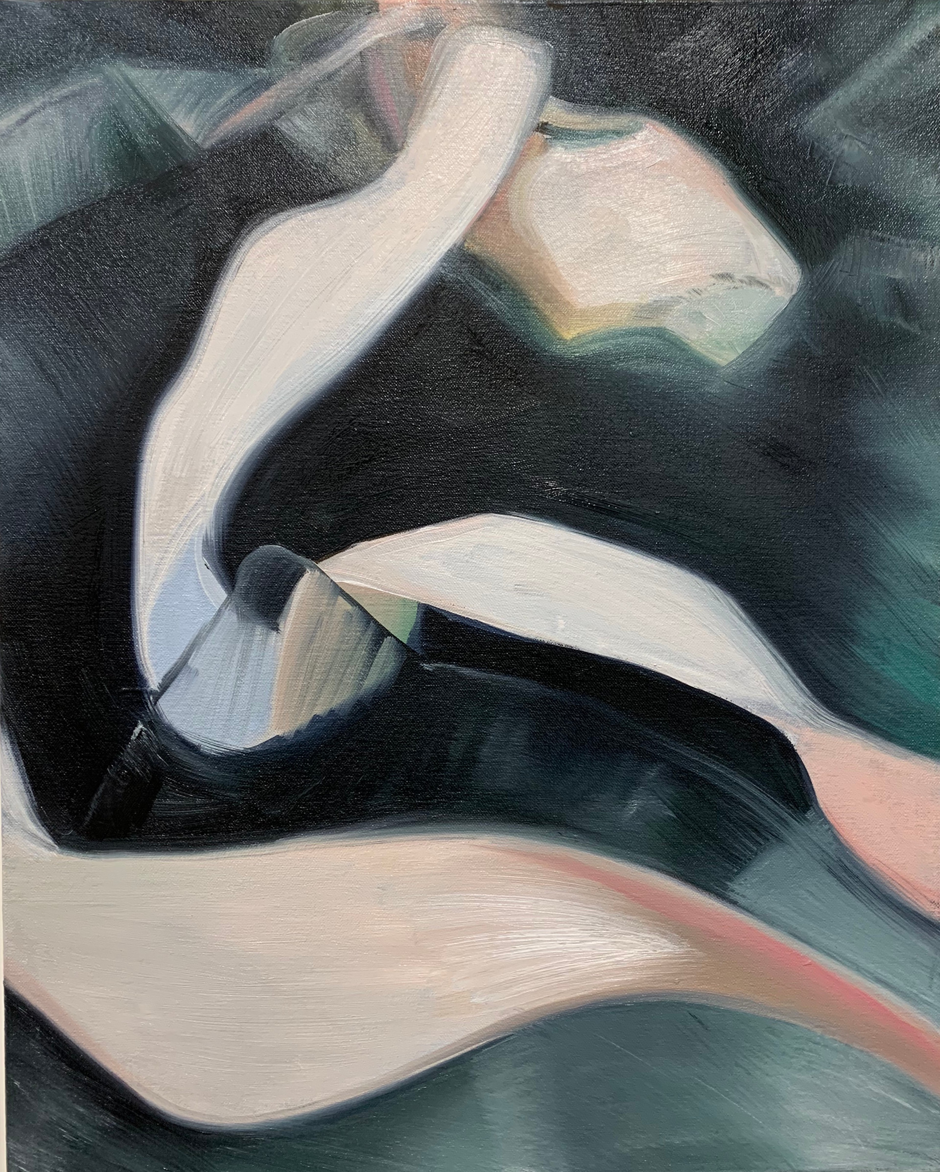 """""""Unravelled"""", 16"""" x 20"""", oil on canvas, 2020"""