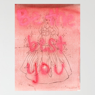 """""""Be the best you"""", monotype on paper, 8"""" x 10"""", 2020"""