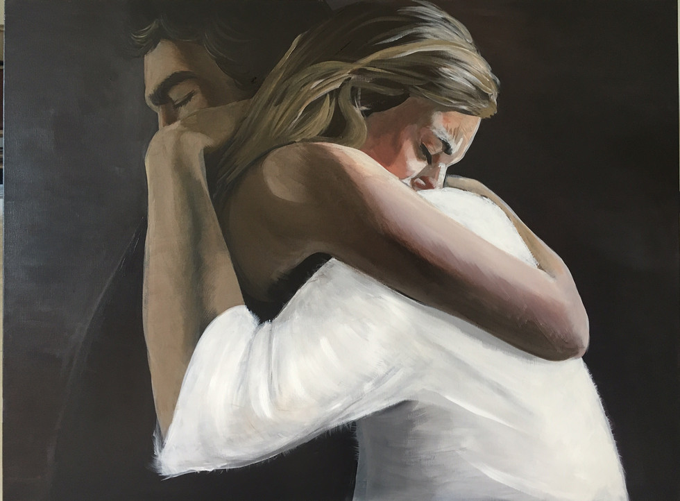 """Accepted in the Beloved"", 30"" x 40"", acrylic on canvas, 2019"