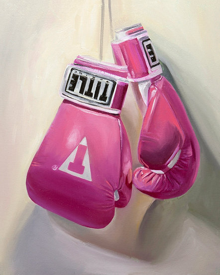 """""""Power Punch"""", 16"""" x 20"""", oil on canvas, 2019"""