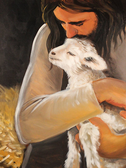 """Jesus Kissing Lamb"" 11"" x 14"" Print"