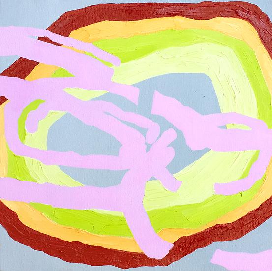 """Mango"", 10""x10"", oil on canvas"