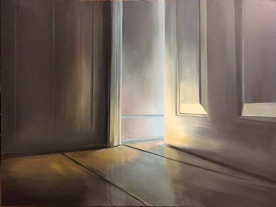 """""""I Am The Door"""", 30"""" x 40"""", acrylic on canvas, 2019"""