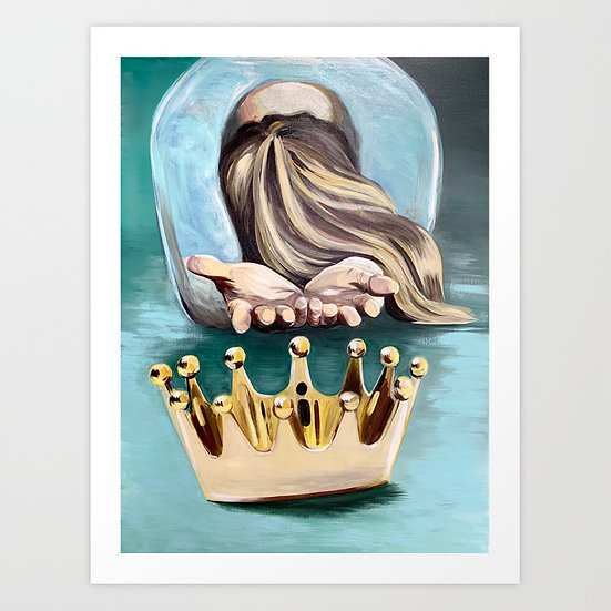 """Casting Down the Crown"" 11"" x 14"" Luster Print"