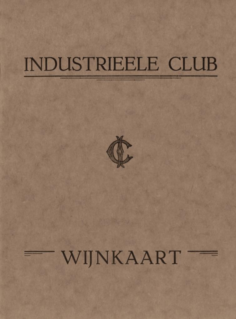 Wijnkaart 1928 Industrieele Club