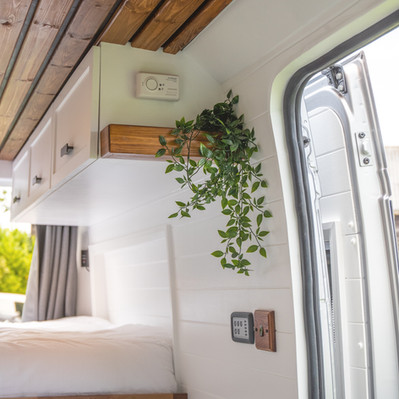 Overheads above the bed