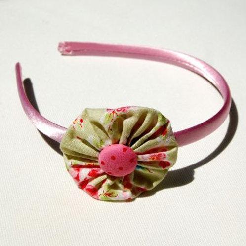 headband - pink and green