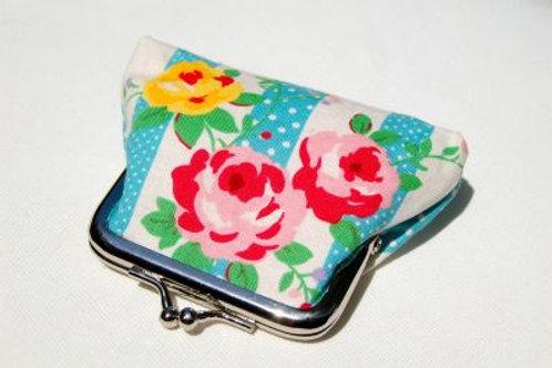coin purse - floral stripe