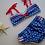 Thumbnail: candy cane polka dot bikini