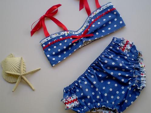 candy cane polka dot bikini