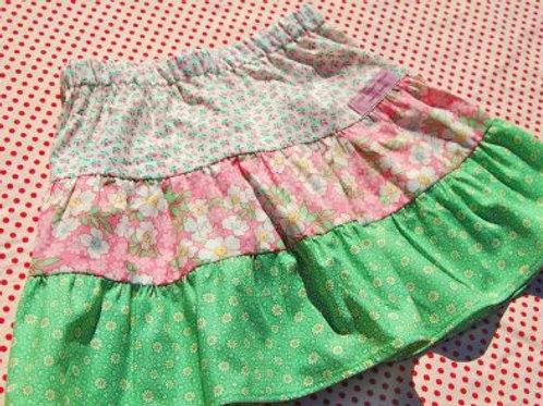 saskia tiered skirt