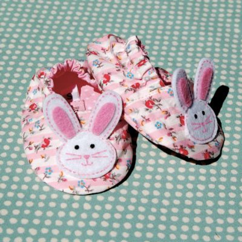 bunny shoes - pink floral