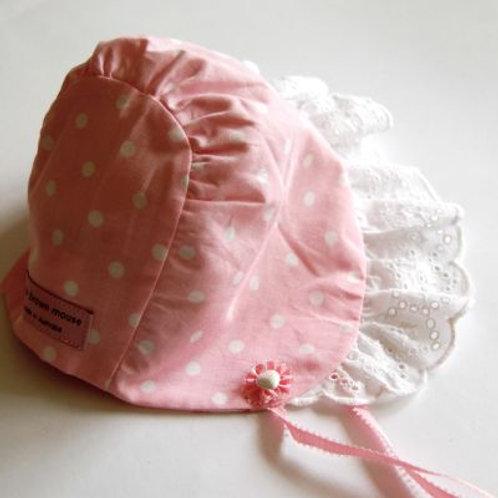 sunhat - pink spot bonnet