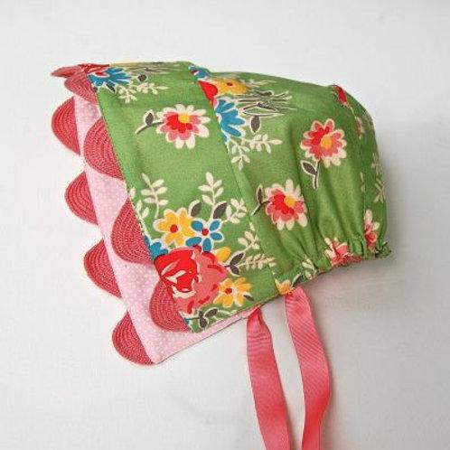 sunhat - gorgeous green bonnet