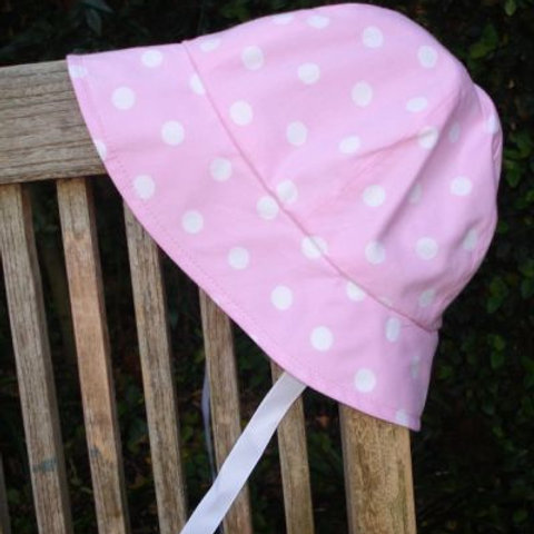 sunhat - lolly pink spot
