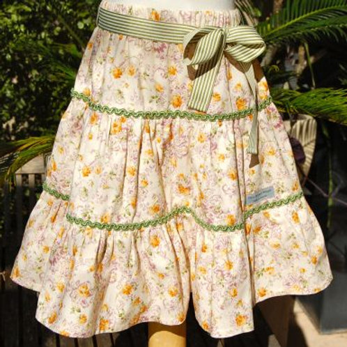 fiona floral tiered skirt