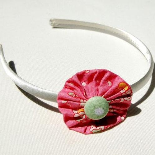 headband - white and pink