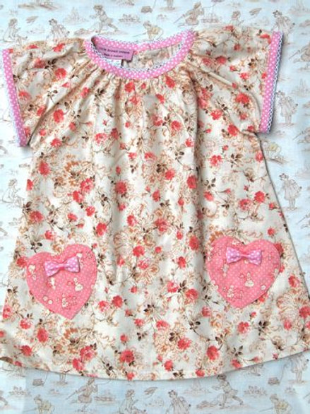 lucy love hearts smock