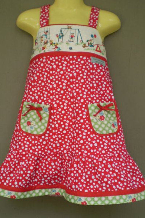 swinging spotty sundress