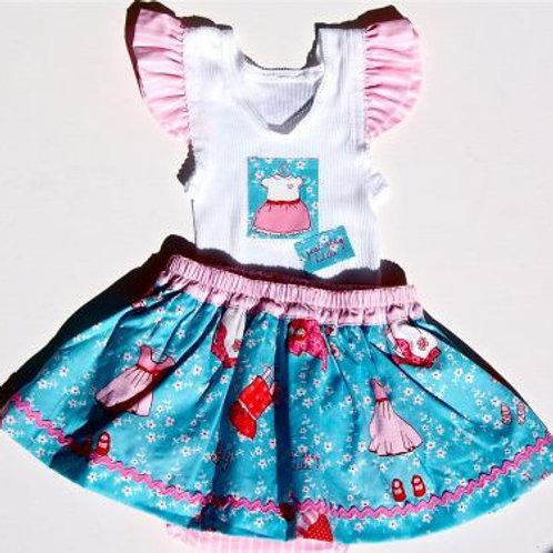 ada skirt and singlet set