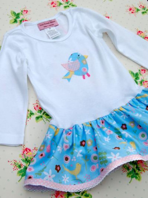 onesie dress - birdies