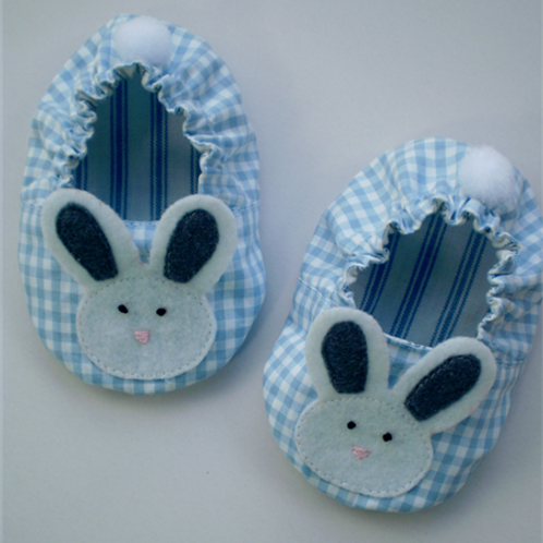 bunny shoes - blue