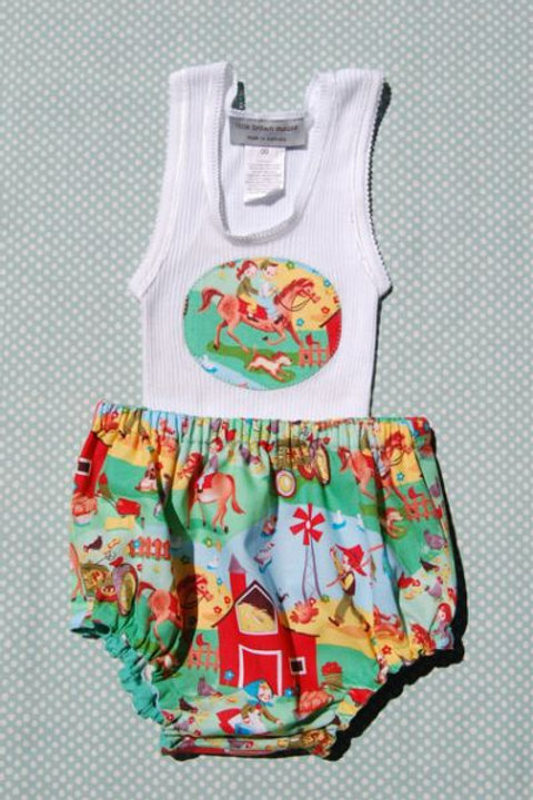 life on the farm - bloomer and singlet set