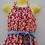 Thumbnail: vintage floral halterneck dress