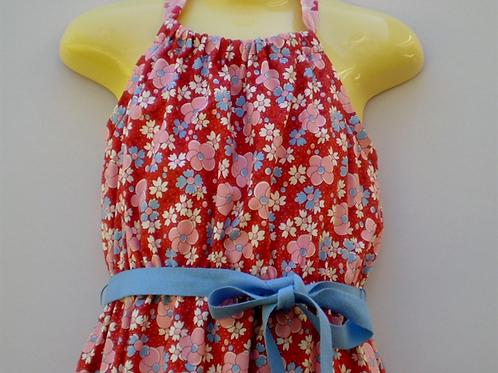 vintage floral halterneck dress