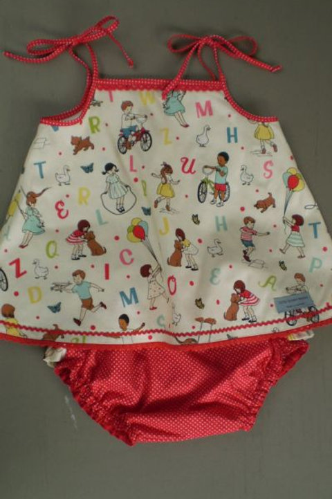 alphabet swing top and frilly knickers set