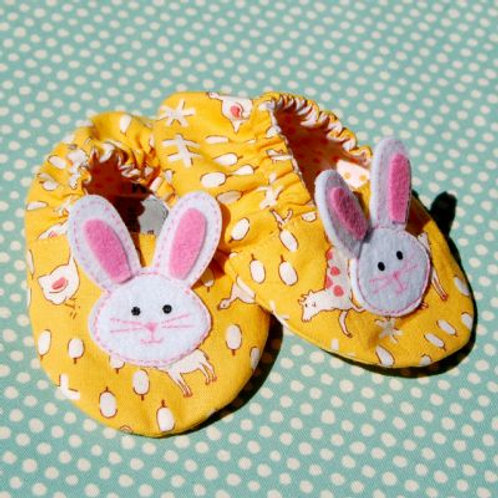 bunny shoes - yellow