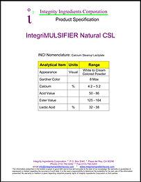 Natural Emulsifier CSL