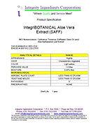 IntegriBOTANICAL Aloe Vera Extract (SAFF)