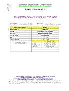 IntegriBOTANICAL Aloe Vera Gel 40x (CG)