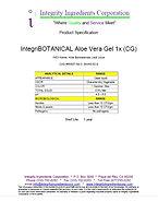 IntegriBOTANICAL Aloe Vera Gel 1x (CG)