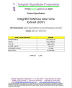 IntegriBOTANICAL Aloe Vera Extract (SOY)