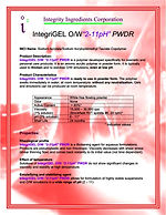"IntegriGEL O/W ""2-11"" pH PWDR"
