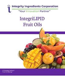 IntegriLIPID Fruit Oil Brochure January