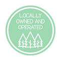 Locally owned & operated - badge mockups