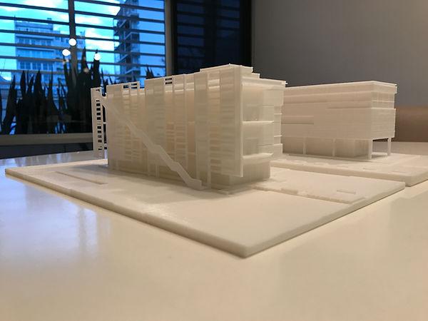 Maquetas de edificios. Impresión 3D