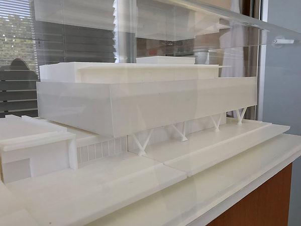 Maqueta de edificio. Impresión 3D.