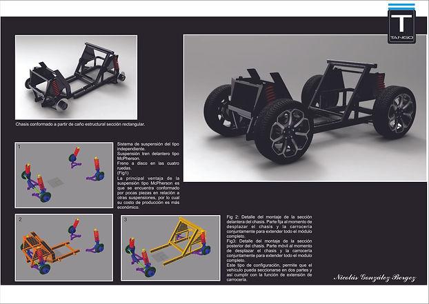 Descripción del funcionamiento de sistema de chasis y tren delantero