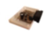Base de gabinete y placa electrónica. Prototipo. Impresión 3D.